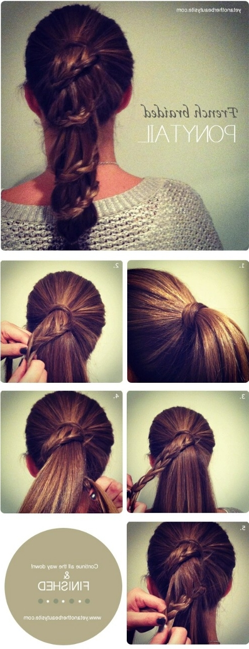 20 Perfect Ponytail Tutorials – Turning The Ordinary Into With Regard To Cascading Braided Ponytails (View 20 of 25)