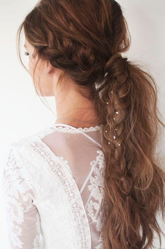 20 Ponytail Hairstyles: Discover Latest Ponytail Ideas Now | Twist With Intricate And Adorable French Braid Ponytail Hairstyles (View 10 of 25)