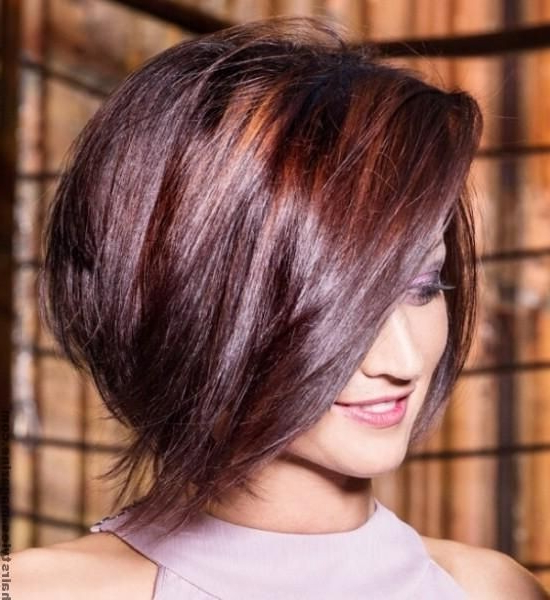 20 Pretty Bob Hairstyles For Short Hair – Popular Haircuts Intended For Short Tapered Bob Hairstyles With Long Bangs (View 25 of 25)