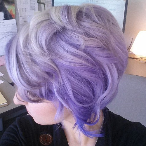 20 Purple Ombre Hair Color Ideas – Popular Haircuts In Lavender Haircuts With Side Part (View 23 of 25)