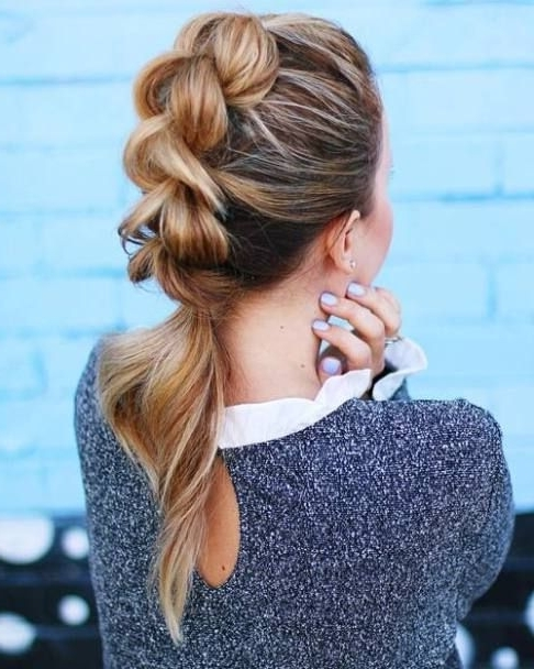 20 Quick And Easy Work Appropriate Hairstyles | Braided Mohawk Inside Braided Maze Low Ponytail Hairstyles (View 6 of 25)