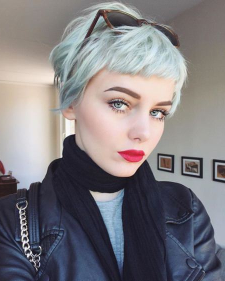 20 Sassy Short Haircuts For Women Within Sexy Pastel Pixie Hairstyles (View 24 of 25)