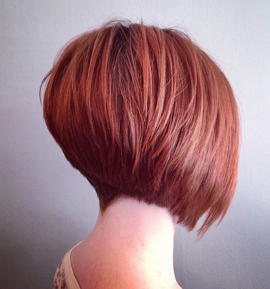 20 Sexy Stacked Haircuts For Short Hair: You Can Easily Copy In Short Stacked Bob Hairstyles With Subtle Balayage (View 16 of 25)