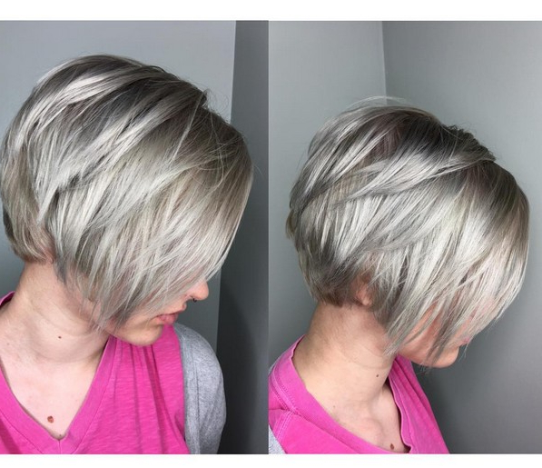 20 Sexy Stacked Haircuts For Short Hair: You Can Easily Copy With Regard To Stacked Blonde Balayage Pixie Hairstyles For Brunettes (View 18 of 25)