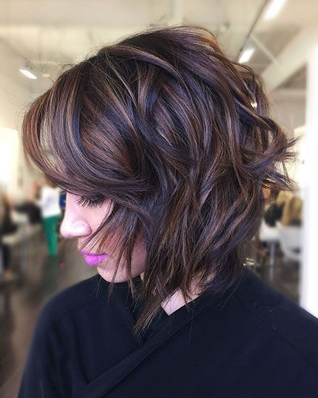 20 Short Layered Bob Hairstyles 2017 – 2018   Hair Follies Intended For Silver Balayage Bob Haircuts With Swoopy Layers (View 25 of 25)
