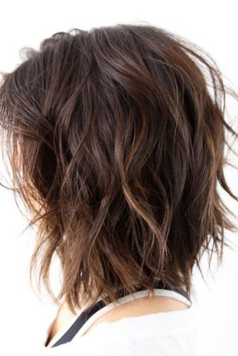 20 Stylish Layered Bob Hairstyles | Lovehairstyles Within Inverted Brunette Bob Hairstyles With Feathered Highlights (View 4 of 25)