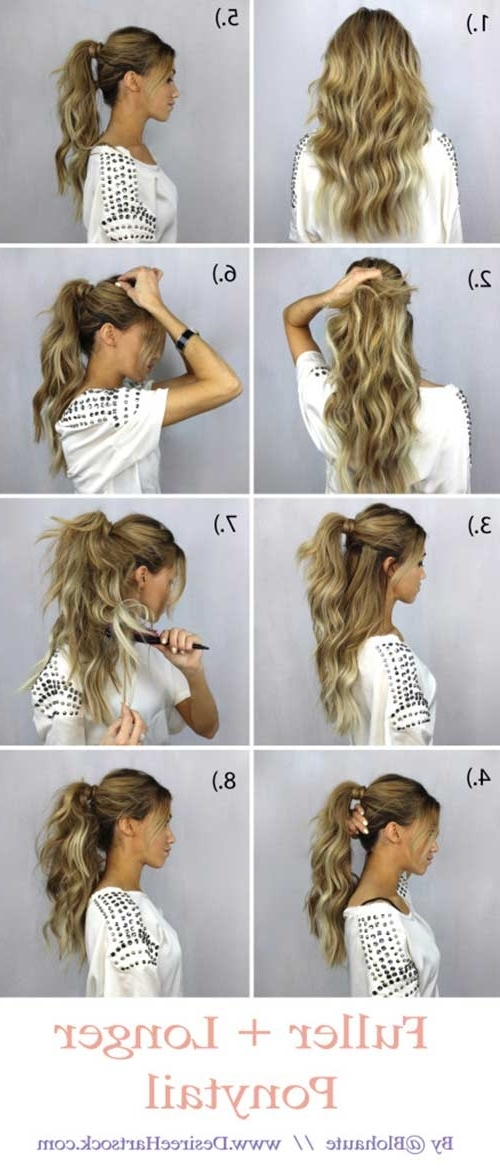 20 Terrific Hairstyles For Long Thin Hair Throughout Intricate And Messy Ponytail Hairstyles (View 7 of 25)