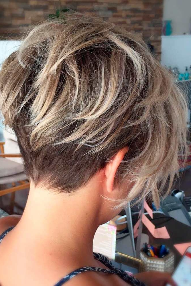 20 Trendy, Short Haircuts For Women Over 50 | Amy! Look! | Pinterest Within Bronde Balayage Pixie Haircuts With V Cut Nape (View 17 of 25)