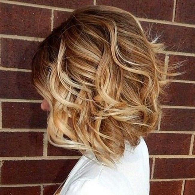20+ Wavy Bob Hairstyles For Short & Medium Length Hair – Hairstyles Inside Short Wavy Blonde Balayage Bob Hairstyles (View 17 of 25)
