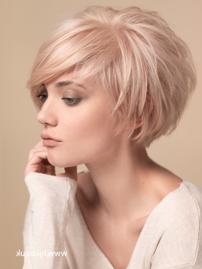 2015 Blonde Layered Crop With   <Br/> Pixie   Hairstyles In 2018 Throughout Short Haircuts Bobs Crops (View 2 of 26)