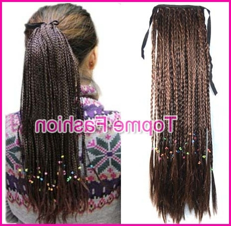 2017 New Women Ponytails Black Blonde Plait Braids Long Good Quality Inside Blonde Braided And Twisted Ponytails (View 11 of 25)