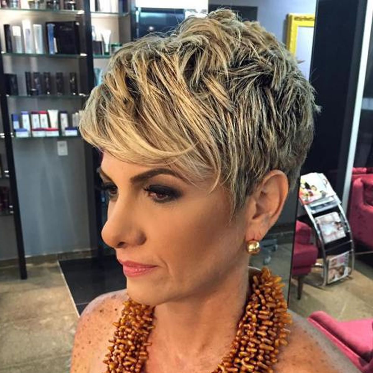 2018 Haircuts For Older Women Over 50 – New Trend Hair Ideas Inside Short Funky Hairstyles For Over  (View 17 of 25)