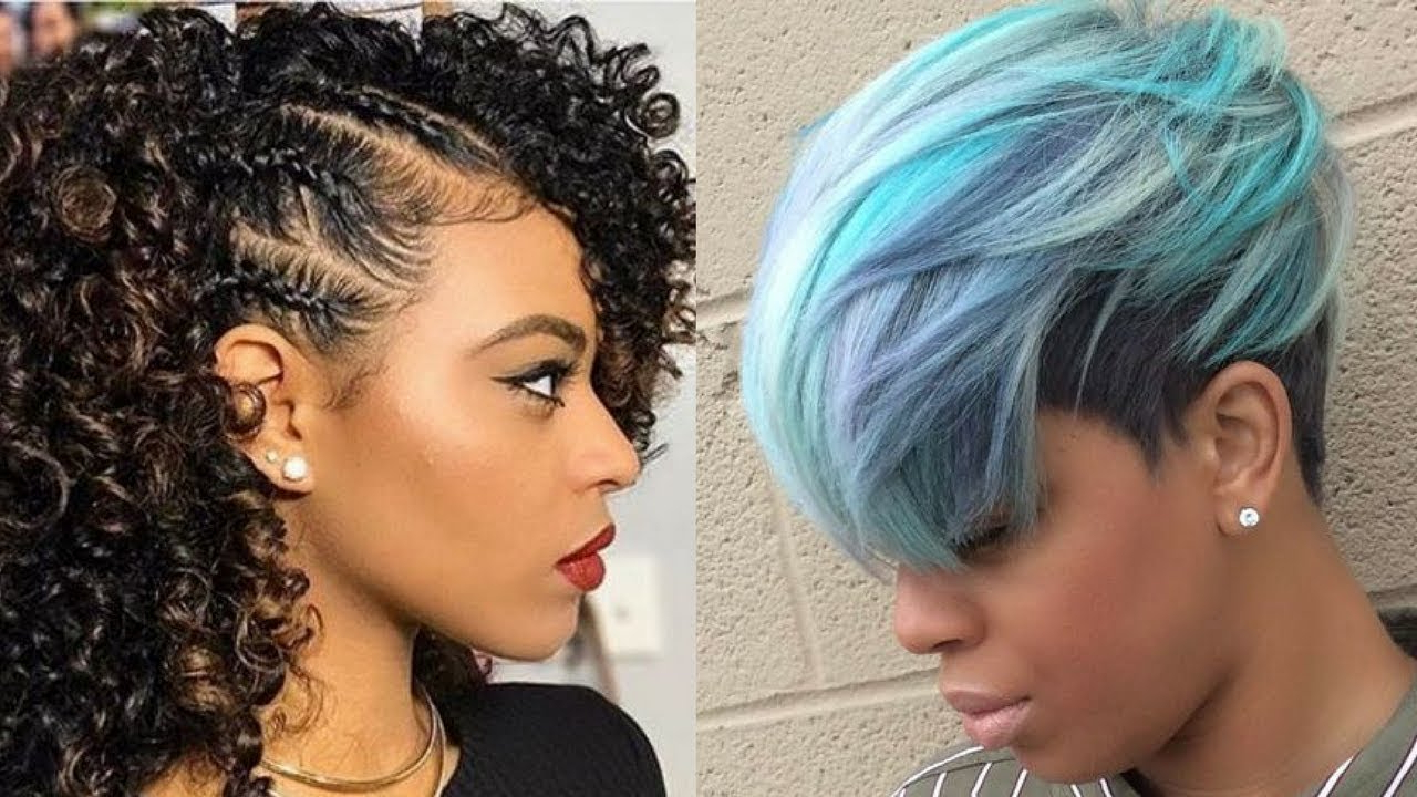 2018 Hairstyle Ideas For Black Women – Youtube Intended For Edgy Short Haircuts For Black Women (View 1 of 25)