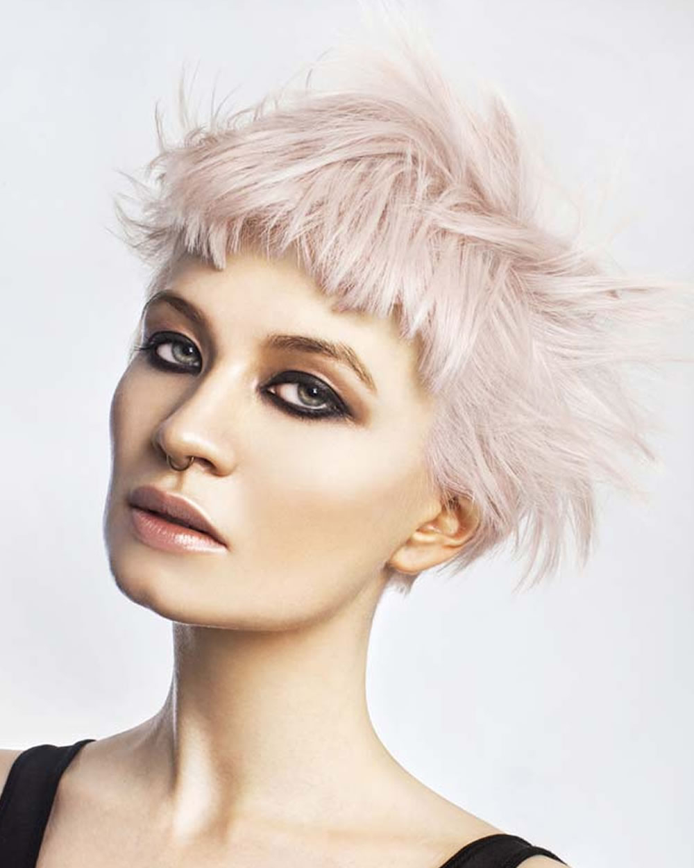 2018 Pastel Hair Colors For Short Hair : Pink, Blue, Yellow, Red Etc Within Pink Short Haircuts (View 4 of 25)