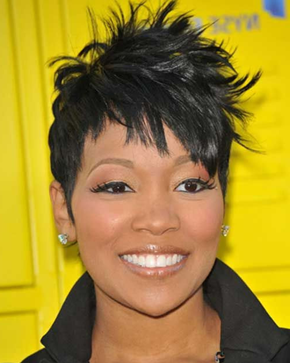 2018 Short Haircuts For Black Women Over 40 With Fine Hair – Hairstyles In Black Short Hairstyles For Long Faces (View 13 of 25)