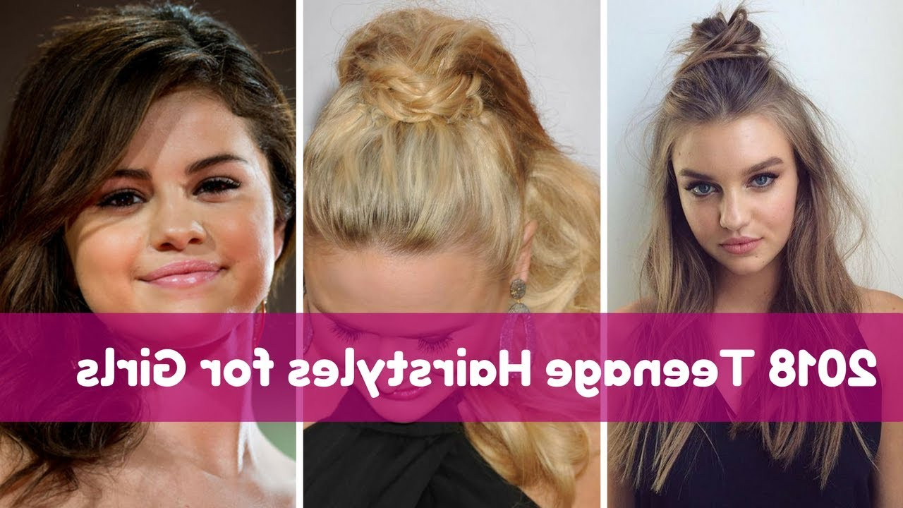 2018 Teenage Hairstyles For Girls – Youtube With Regard To Short Hairstyles For Juniors (View 15 of 25)