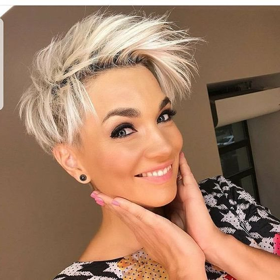 2018 Trend Short Pixie Cuts For Fine Hair – Hairstyle Fix In Sunny Blonde Finely Chopped Pixie Haircuts (View 16 of 25)
