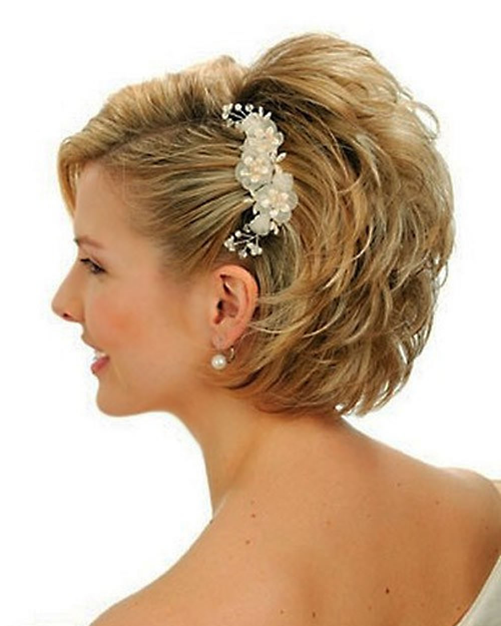 2018 Wedding Hairstyles And Make Up Guide For Short Hair – Hairstyles In Bridal Hairstyles Short Hair (View 18 of 25)