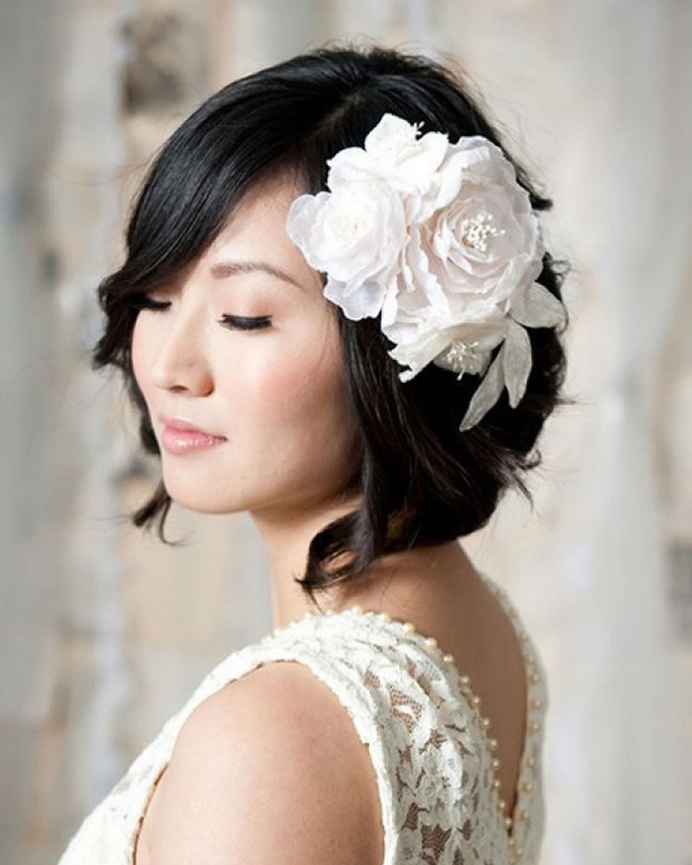 2018 Wedding Hairstyles And Make Up Guide For Short Hair – Page 2 Regarding Bridal Hairstyles Short Hair (View 11 of 25)