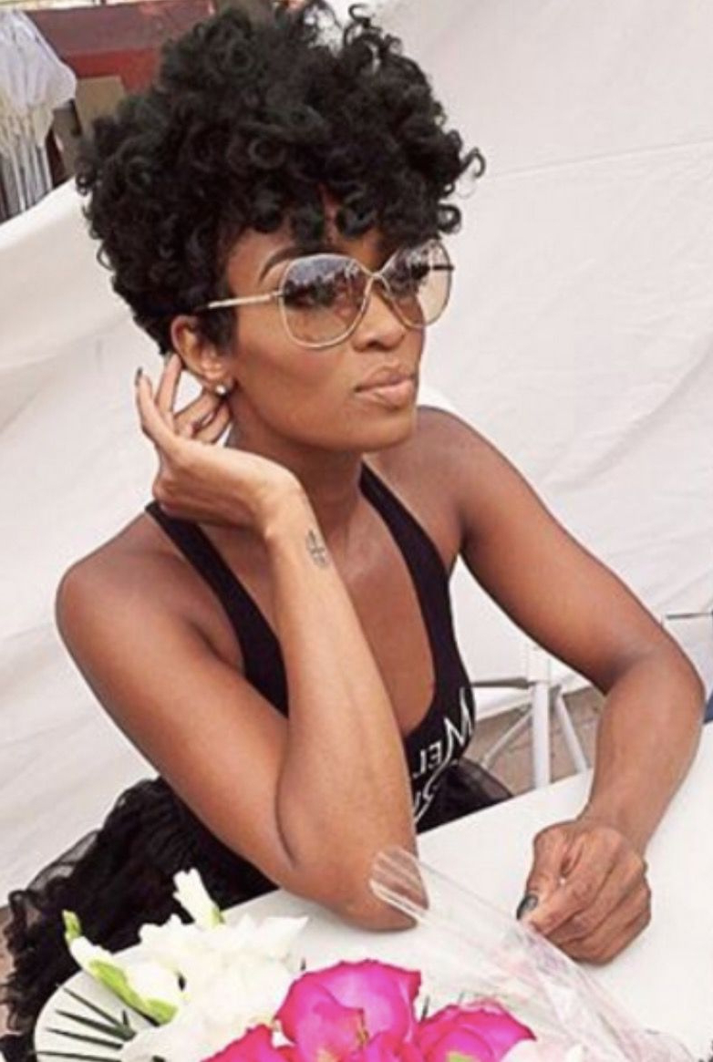 2019 Black Natural Short Curly Hairstyles Lovely Ariane Davis With Curly Black Tapered Pixie Hairstyles (View 25 of 25)