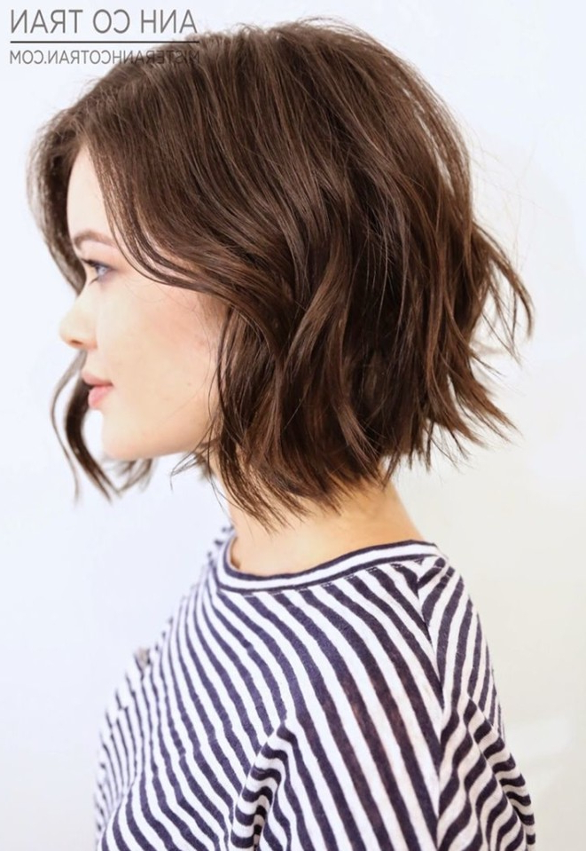 21 Adorable Choppy Bob Hairstyles For Women 2018 For Modern Chocolate Bob Haircuts (View 4 of 25)