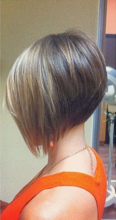 21 Best Short Haircuts For Fine Hair | Hair Style And Colors Regarding Angled Bob Hairstyles (View 8 of 25)