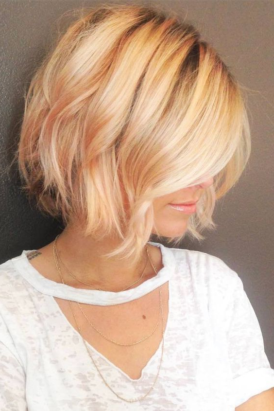 21+ Best Stacked Bob Hairstyles Ideas For 2018 – 2019 | Pinterest Within Short Crisp Bronde Bob Haircuts (View 6 of 25)