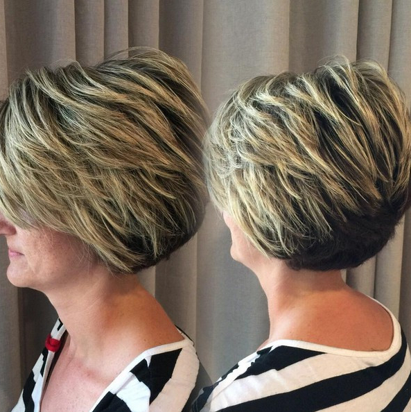 21+ Classy Short Haircuts & Hairstyles For Thick Hair – Sensod Inside Classic Layered Bob Hairstyles For Thick Hair (View 25 of 25)