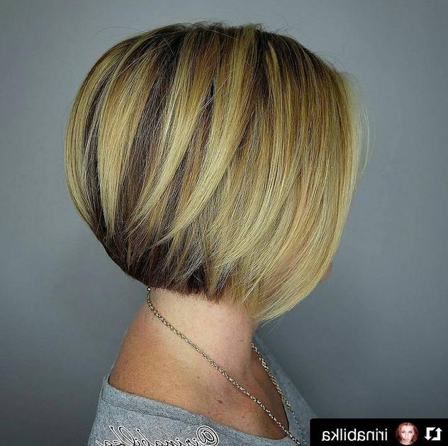 21 Cute Layered Bob Hairstyles – Popular Haircuts Regarding Classic Layered Bob Hairstyles For Thick Hair (View 12 of 25)