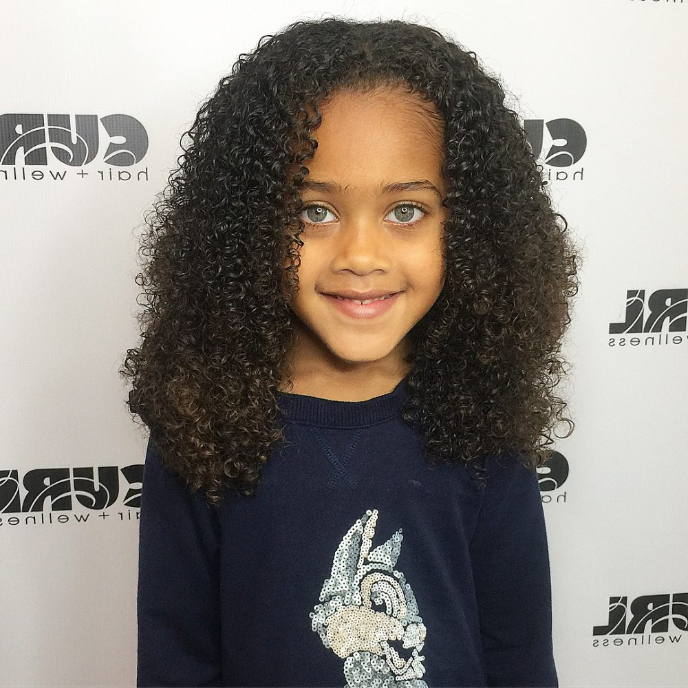 21 Easy Hairstyles For Girls With Curly Hair – Little Girls & Toddlers Intended For Bouncy Curly Black Bob Hairstyles (View 22 of 25)