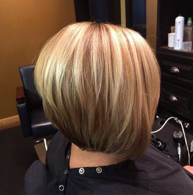 21 Gorgeous Stacked Bob Hairstyles – Popular Haircuts Intended For Stacked Bob Hairstyles With Highlights (View 12 of 25)