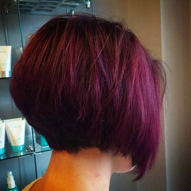 21 Gorgeous Stacked Bob Hairstyles – Popular Haircuts Pertaining To Extreme Angled Bob Haircuts With Pink Peek A Boos (View 9 of 25)