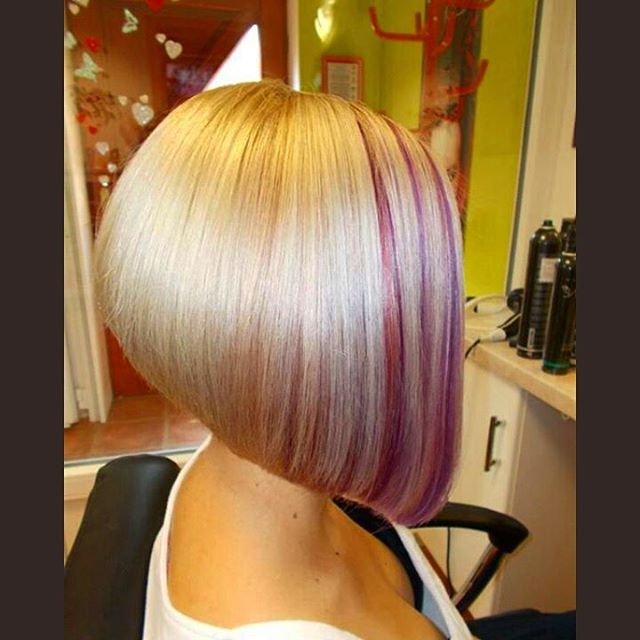 21 Gorgeous Stacked Bob Hairstyles – Popular Haircuts Regarding Extreme Angled Bob Haircuts With Pink Peek A Boos (View 11 of 25)