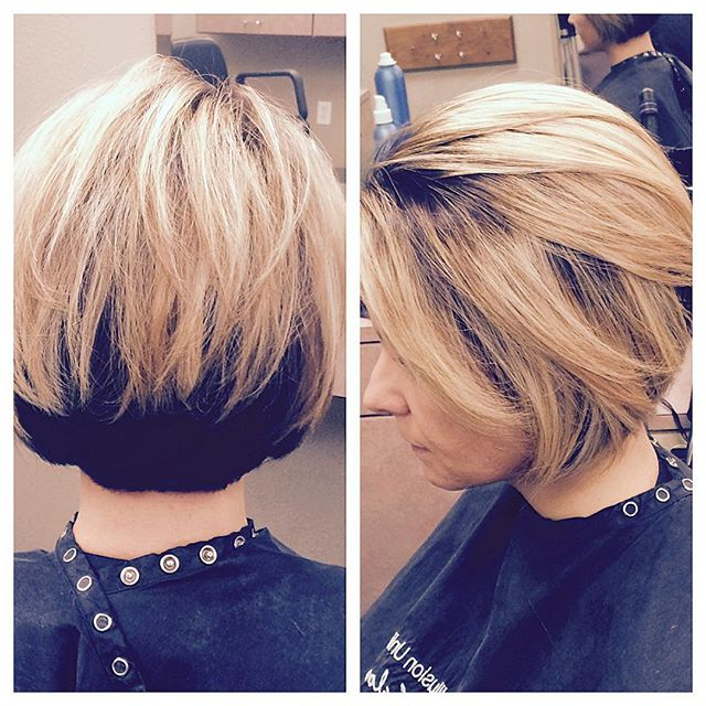 21 Gorgeous Stacked Bob Hairstyles – Popular Haircuts With Extreme Angled Bob Haircuts With Pink Peek A Boos (View 12 of 25)