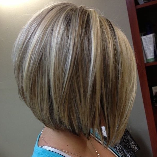 21 Gorgeous Stacked Bob Hairstyles – Popular Haircuts Within Extreme Angled Bob Haircuts With Pink Peek A Boos (View 13 of 25)