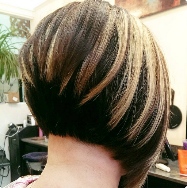 21 Hottest Stacked Bob Hairstyles – Hairstyles Weekly Pertaining To Extreme Angled Bob Haircuts With Pink Peek A Boos (View 14 of 25)