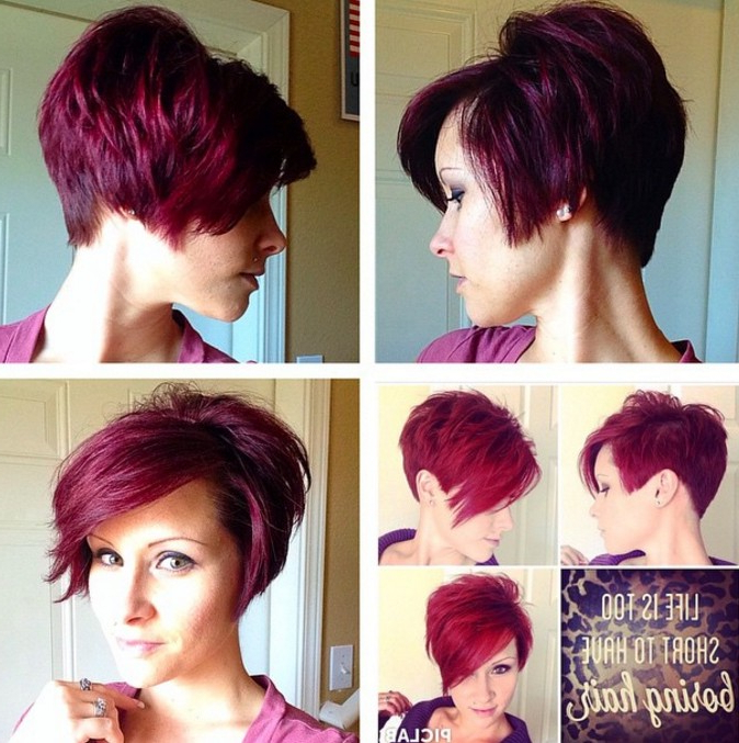 21 Stunning Long Pixie Cuts – Short Haircut Ideas For 2018 Inside Edgy Purple Tinted Pixie Haircuts (View 9 of 25)