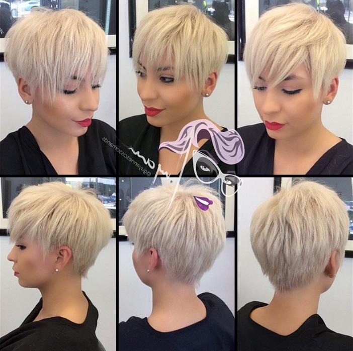 21 Stunning Long Pixie Cuts – Short Haircut Ideas For 2018 Throughout High Shine Sleek Silver Pixie Bob Haircuts (View 18 of 25)