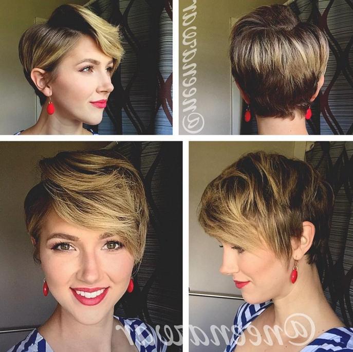 21 Stunning Long Pixie Cuts – Short Haircut Ideas For 2018 Throughout High Shine Sleek Silver Pixie Bob Haircuts (View 15 of 25)