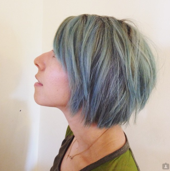 21 Textured Choppy Bob Hairstyles: Short, Shoulder Length Hair With Blue Balayage For Black Choppy Bob Hairstyles (View 6 of 25)