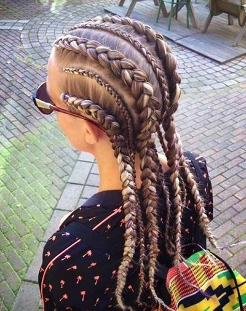 21 Trendy Braided Hairstyles To Try This Summer | Hairstyling Regarding Trendy Two Tone Braided Ponytails (View 9 of 25)