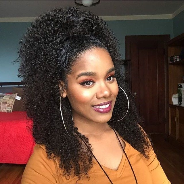 217 Best Curly Haira™ Images On Pinterest Natural Hair Black Curly For Naturally Curly Ponytail Hairstyles (View 14 of 25)