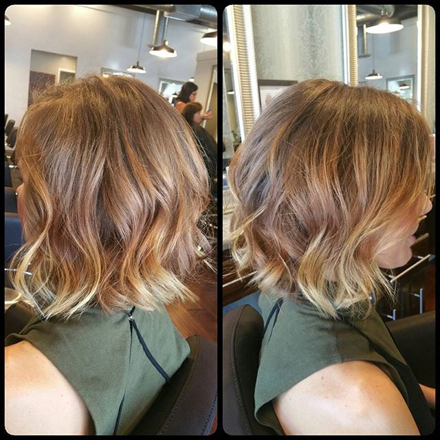 22 Amazing Layered Bob Hairstyles For 2018 You Should Not Miss Intended For Messy Jaw Length Blonde Balayage Bob Haircuts (View 14 of 25)