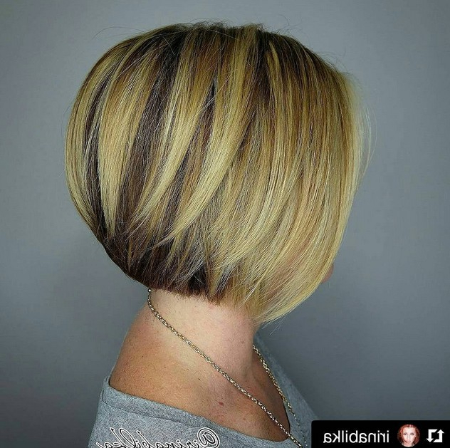 22 Amazing Layered Bob Hairstyles For 2018 You Should Not Miss Pertaining To Straight Cut Bob Hairstyles With Layers And Subtle Highlights (View 18 of 25)