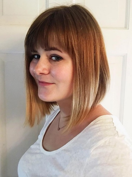 22 Cute & Classy Inverted Bob Hairstyles – Pretty Designs Regarding Short Tapered Bob Hairstyles With Long Bangs (View 14 of 25)