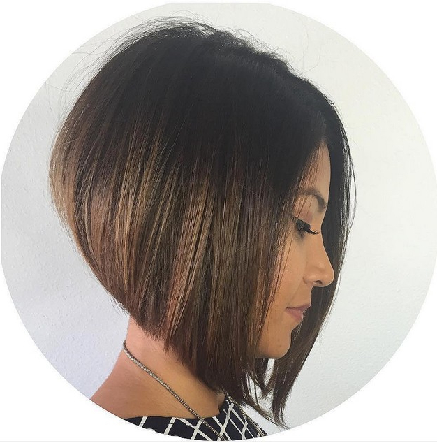 22 Cute Graduated Bob Hairstyles: Short Haircut Designs – Popular Within Stacked Black Bobhairstyles  With Cherry Balayage (View 16 of 25)