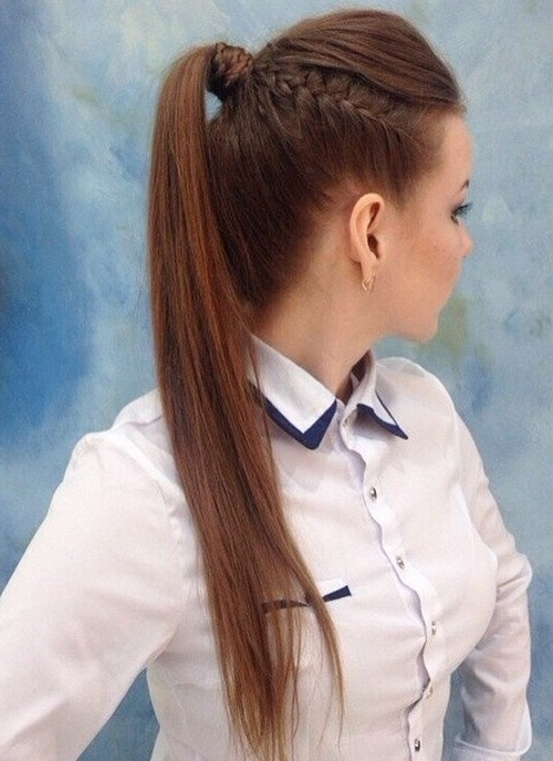 22 Cute Ponytails For Long & Medium Length Hair – Straight, Messy In Cute And Carefree Ponytail Hairstyles (View 19 of 25)