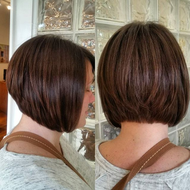 22 Hottest Graduated Bob Hairstyles Right Now – Hairstyles Weekly Within Perfectly Angled Caramel Bob Haircuts (View 19 of 25)