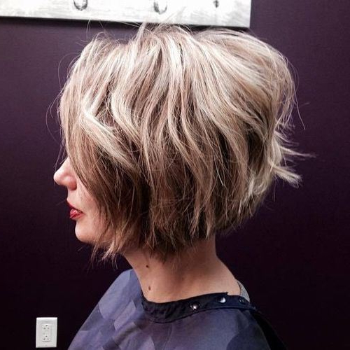 22 Hottest Inverted Bobs To Get You Inspired – Trendy Inverted Bob In Choppy Pixie Bob Haircuts With Stacked Nape (View 9 of 25)
