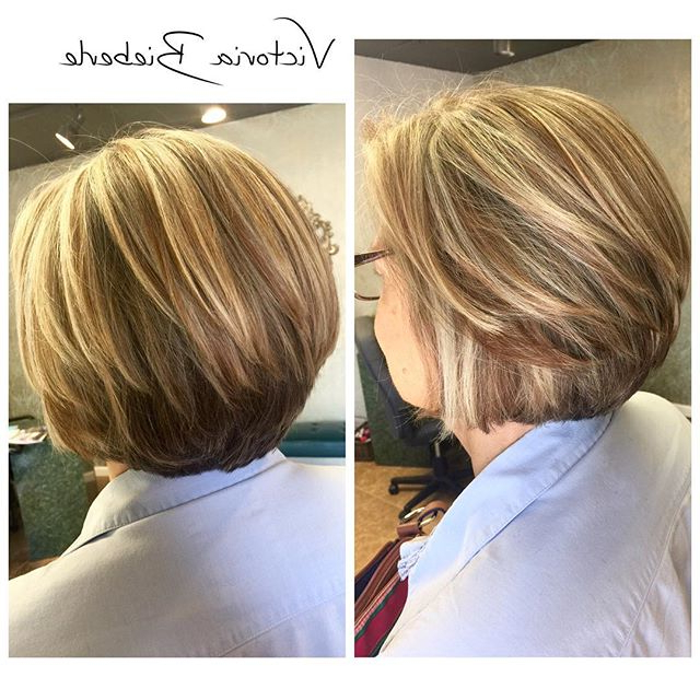22 Layered Bob Hairstyle Ideas You Will Love! – Pretty Designs Regarding Short Stacked Bob Hairstyles With Subtle Balayage (View 8 of 25)